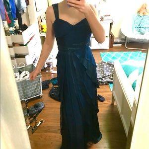 long blue formal dress